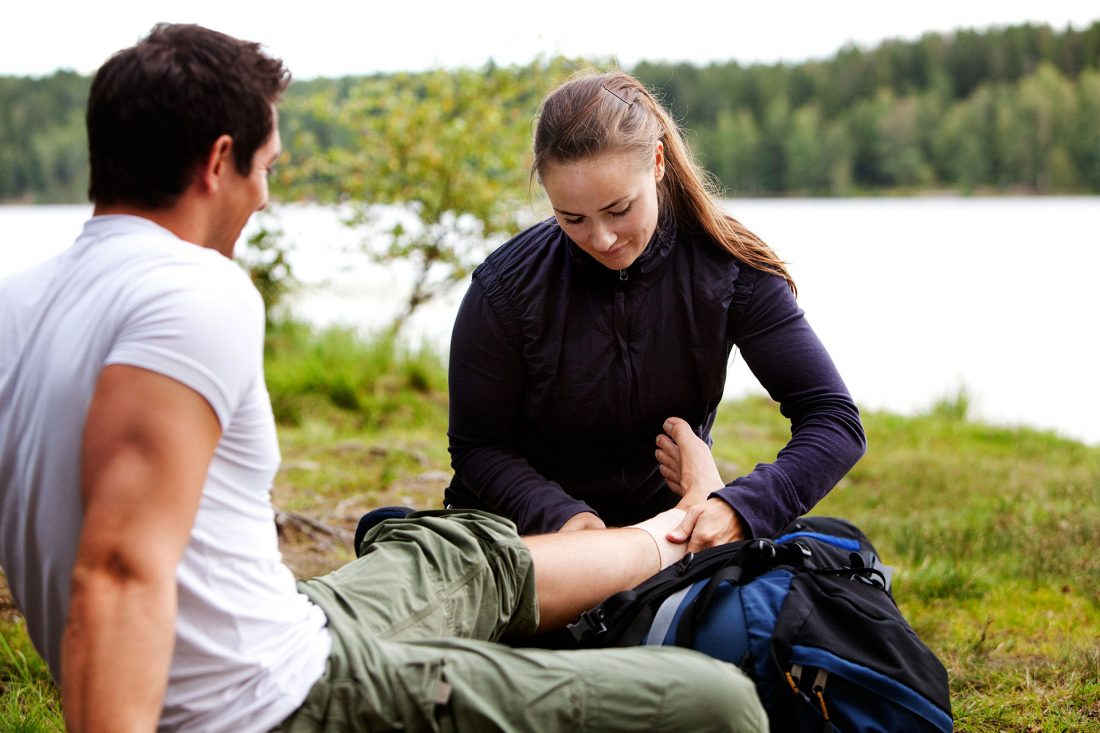 First-aid bandage sprain
